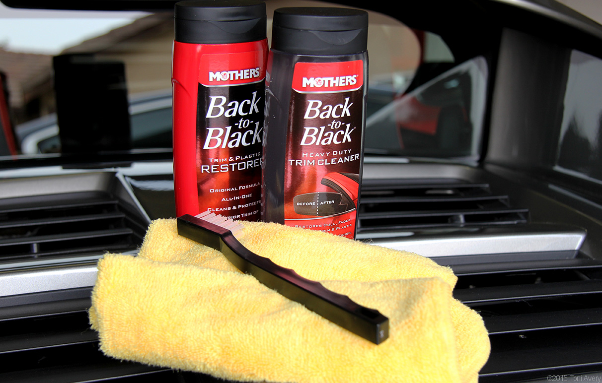 Girlsdrivefasttoo mothers new product review back to black Black interior car trim restorer
