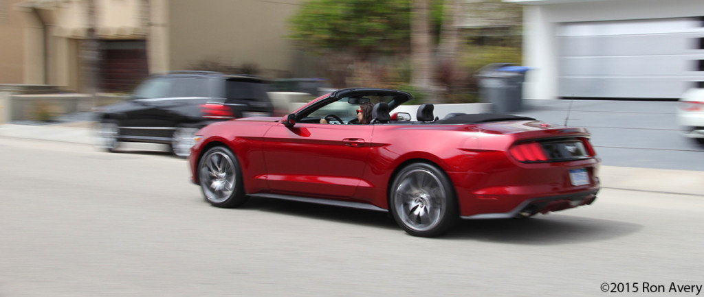 2015 Ford Mustang EcoBoost Convertible drving 2