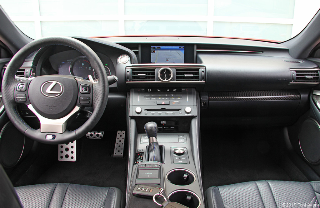 2015 Lexus RC-F Coupe interior