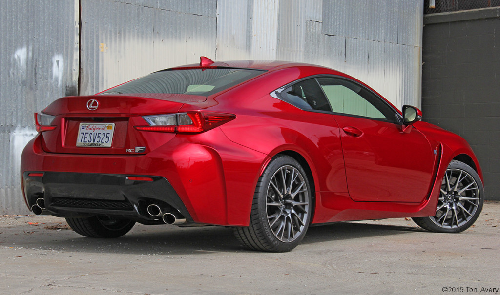 2015 Lexus RC-F Coupe rear