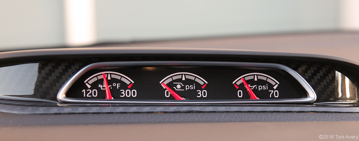 2016 Ford Focus ST dash gauges