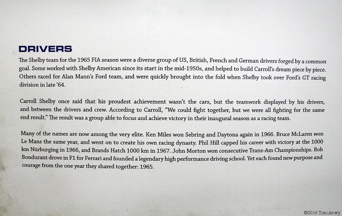 Shelby Car Show drivers desc