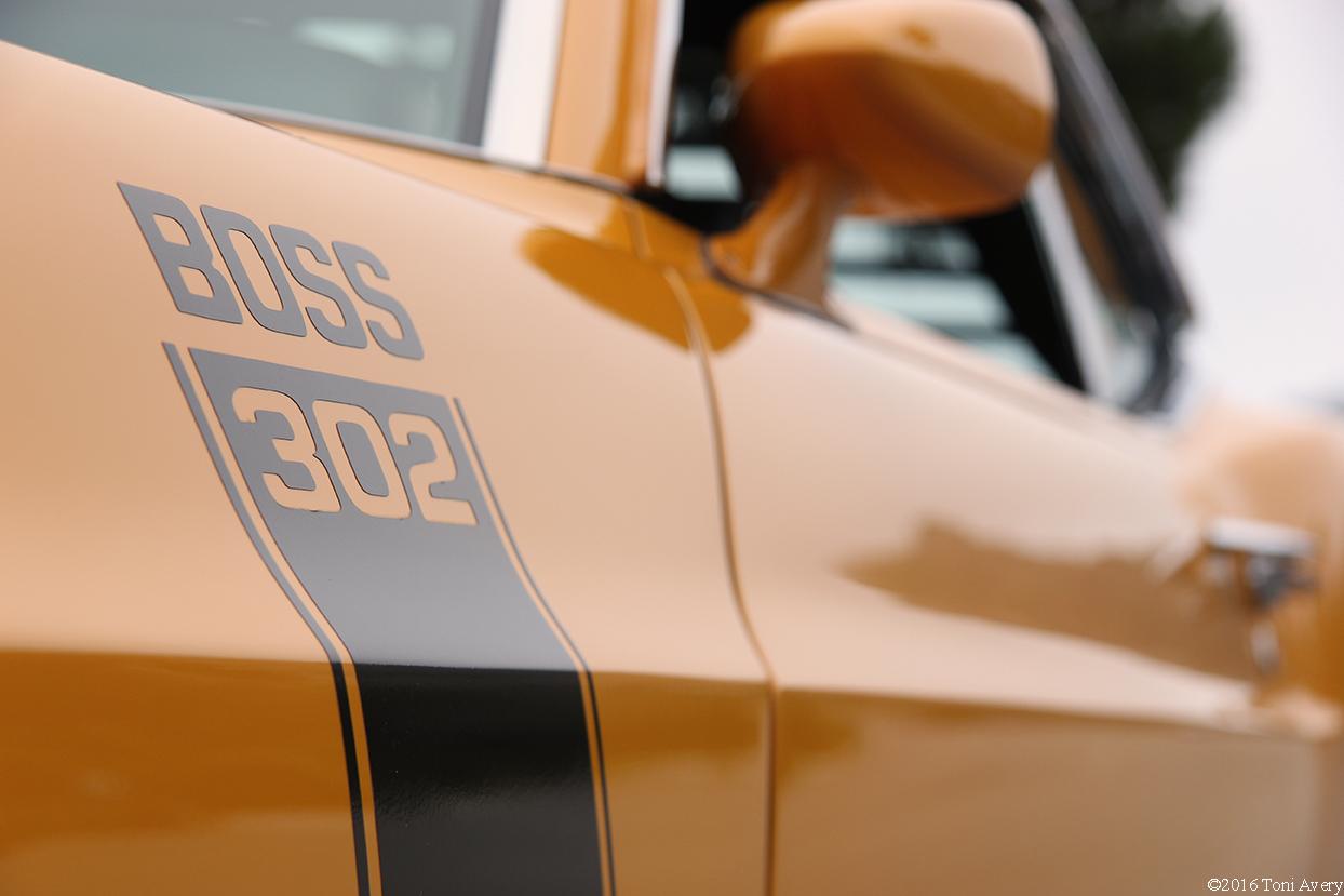1970 Ford Mustang Boss 302 side logo