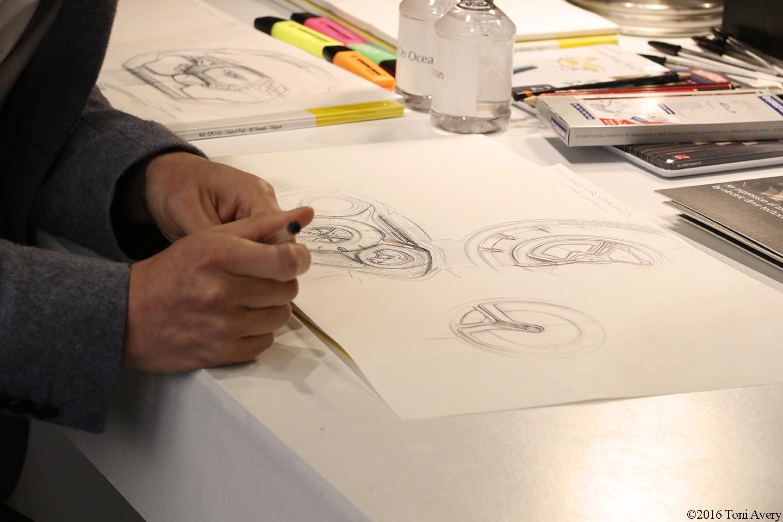 Aston Martin on Ocean sketching