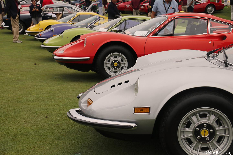 Concorso Italiano Ferrari Dino lineup