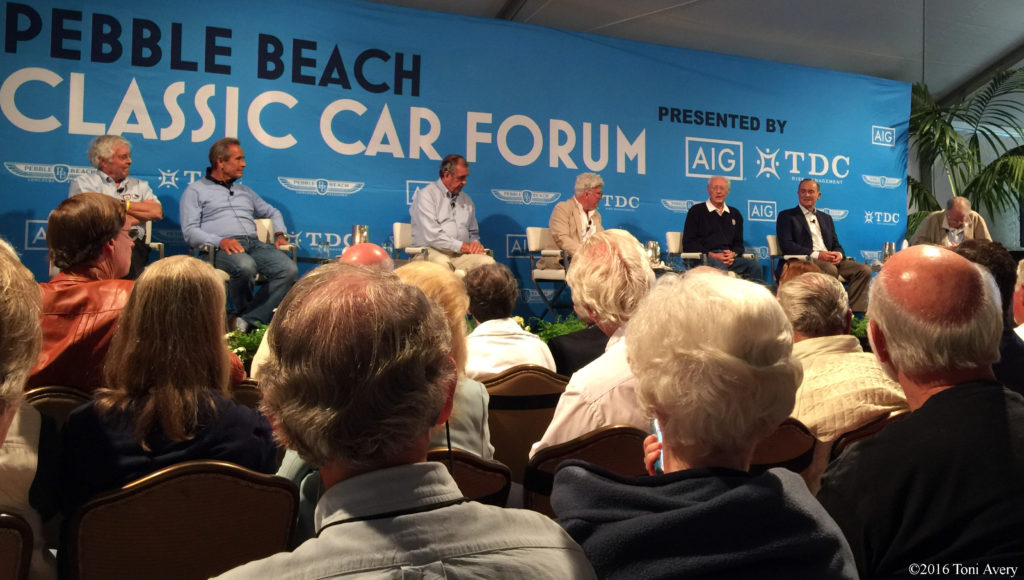 Ford GT40 drivers on stage