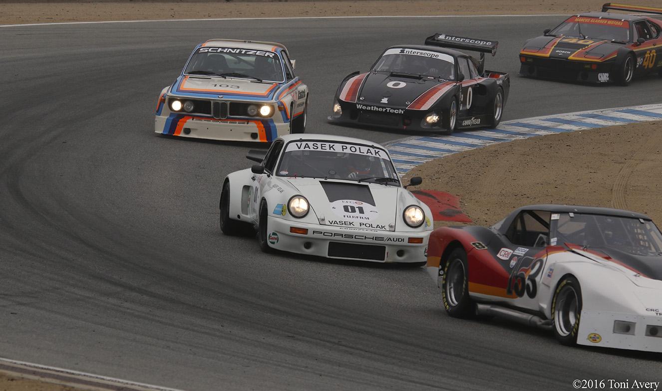 Rolex Monterey Motorsports Reunion BMW and Porsche corner