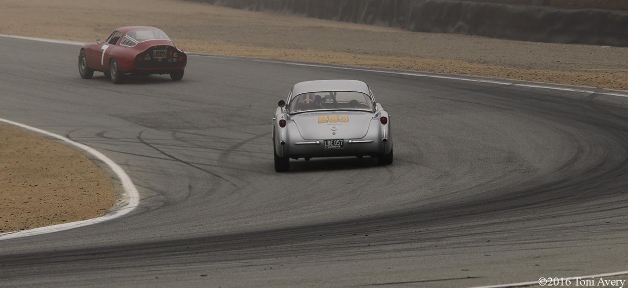 Rolex Monterey Motorsports Reunion Corvette and Alfa