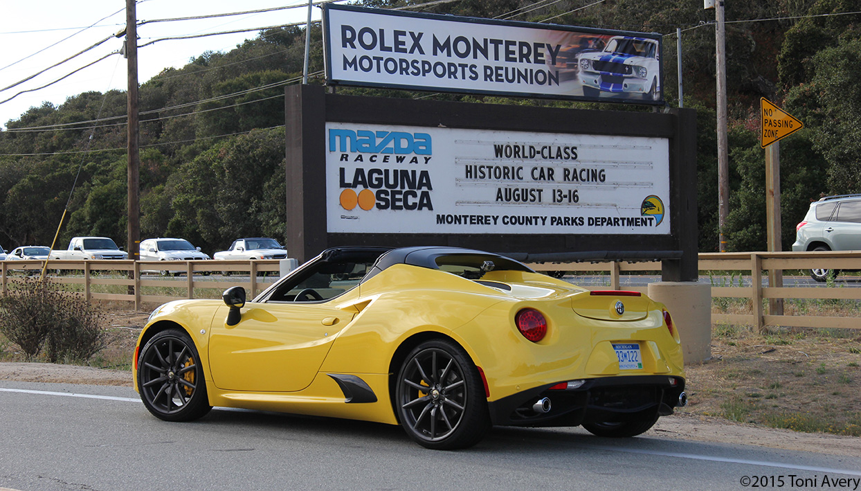 2015 Alfa Romeo 4C Spider Short Drive, Monterey Car Week